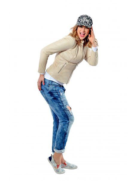 Dámská kožená bunda Booy od RINO&PELLE