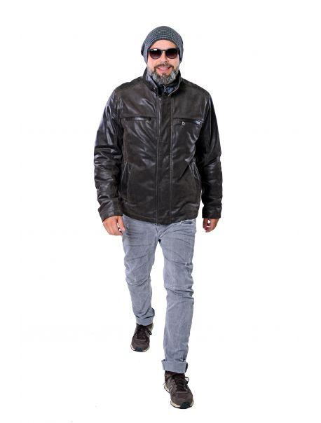 Pánská kožená bunda Olf RINO&PELLE
