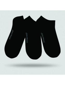 JOHN FRANK PONOŽKY SET JF3SS17S01-BLACK (3ks/balení)