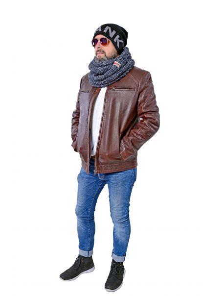 Pánská bunda kožená Jelryk RINO&PELLE