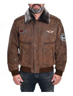 Pánská kožená bunda - pilotka Laslo MADDOX