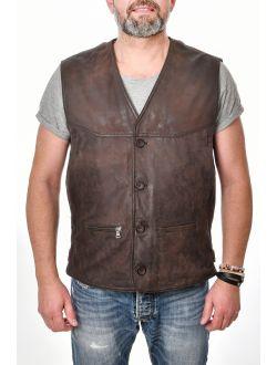 Pánská kožená vesta Georgio MADDOX