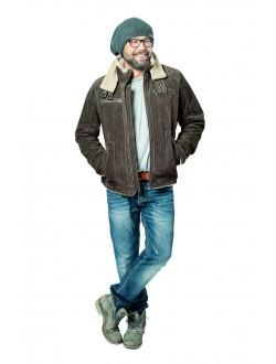 Pánská bunda kožená Check RINO&PELLE